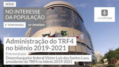 Foto de Balanço da gestão 2019-2021 do TRF4 encerra segunda temporada do podcast Justa Prosa